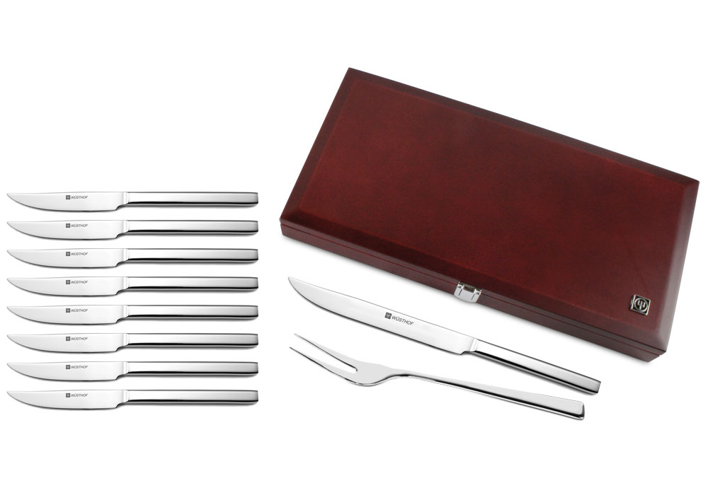 Wusthof Stainless Steel Carving Amp Steak Knife Set With