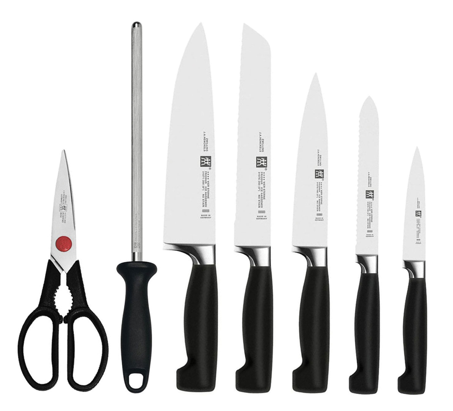 J A Henckels Four Star Set 8 Piece With Knife Block