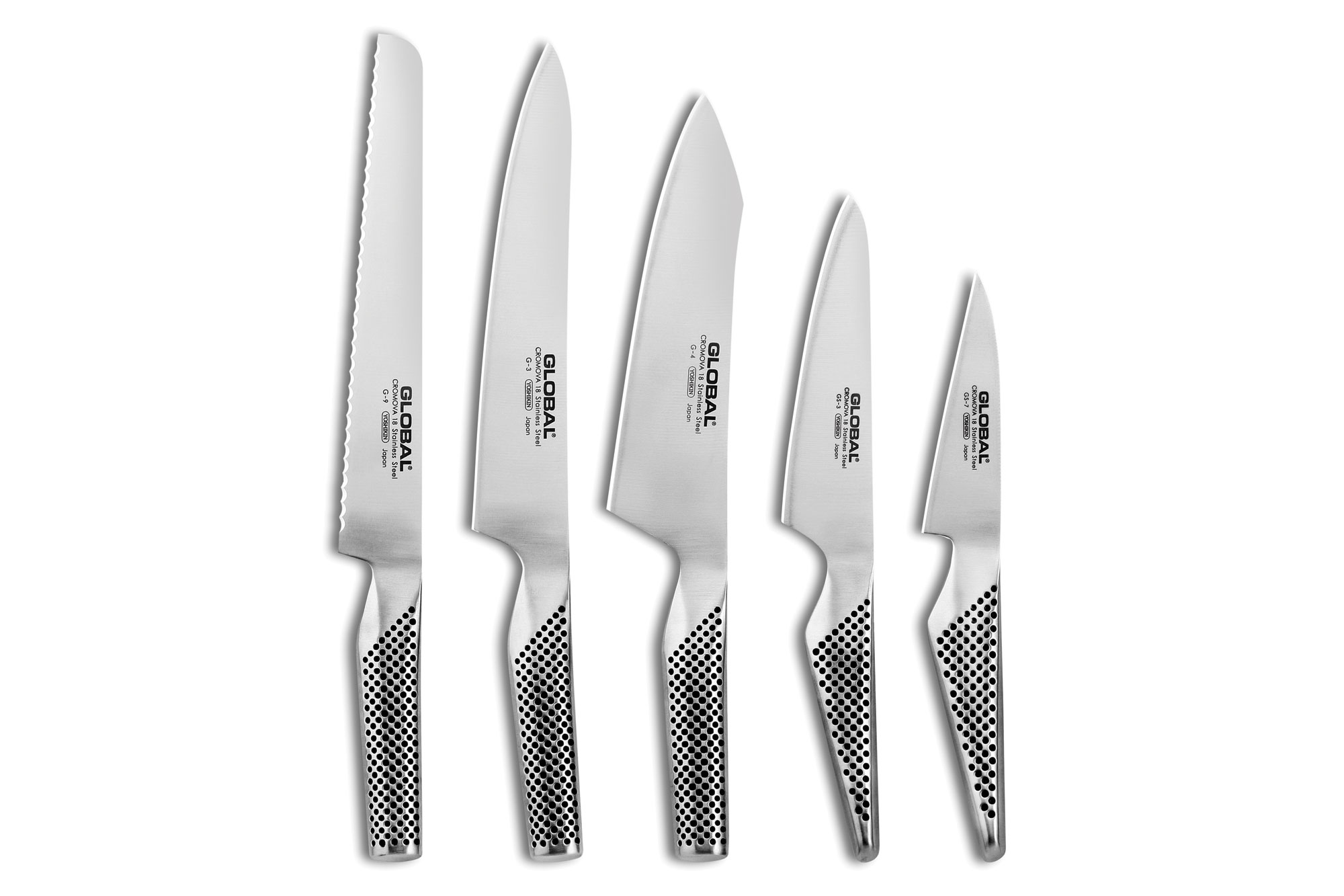 Global Stainless Steel Knife Set 6 Piece Cutlery And More