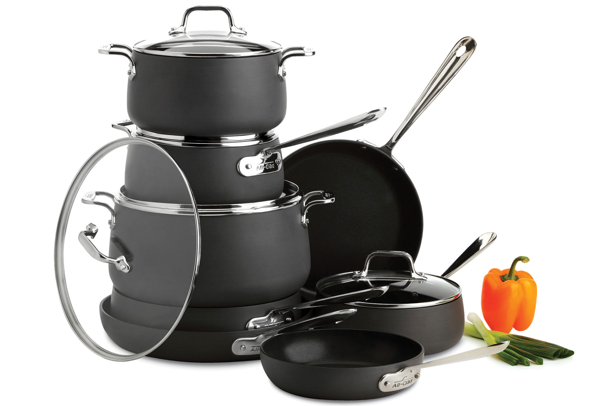 All Clad Ha1 Nonstick Cookware Set 13 Piece Pots And Pans