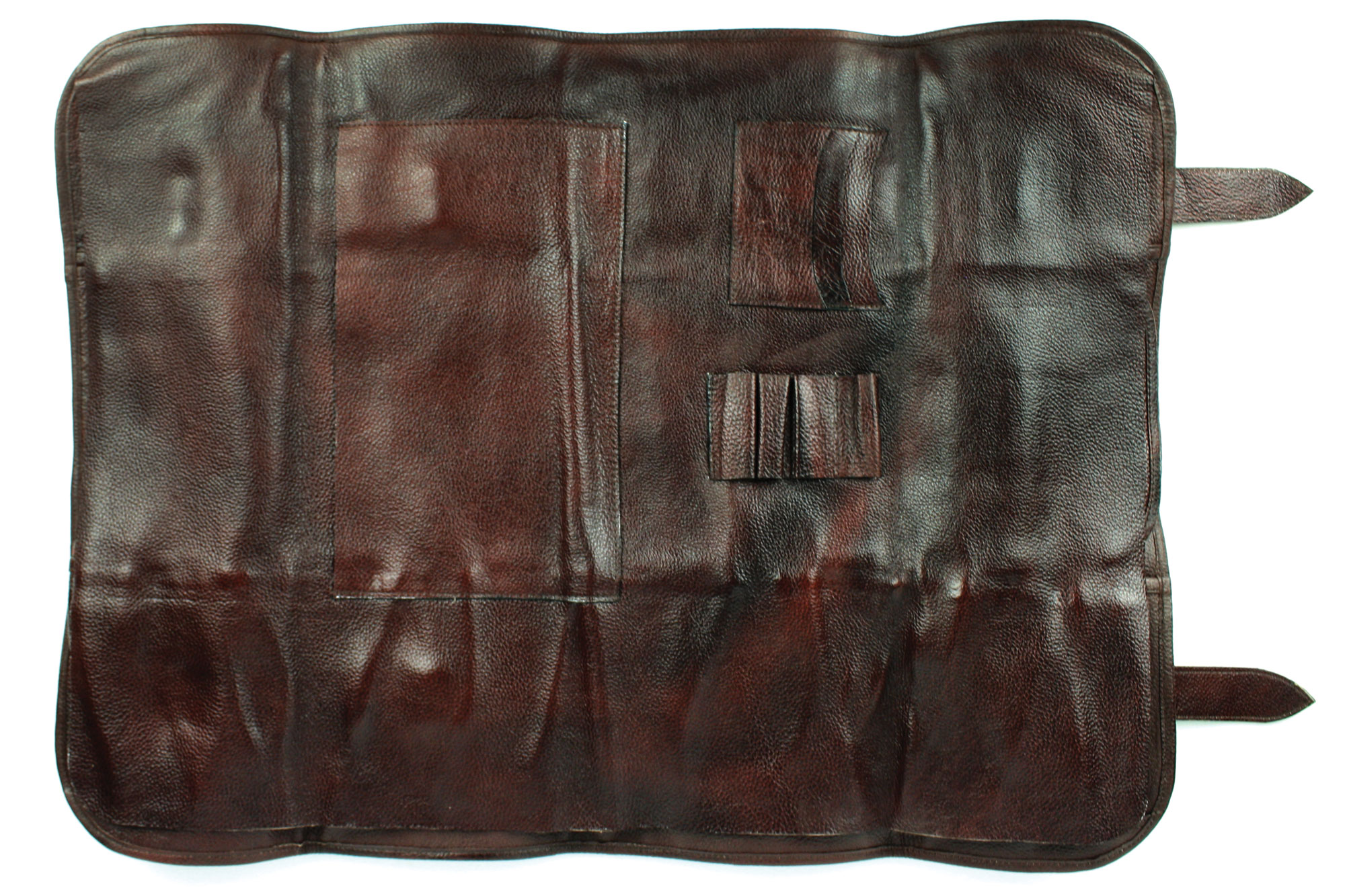 Boldric Leather Knife Bag 17 Pocket Brown Cutlery And More