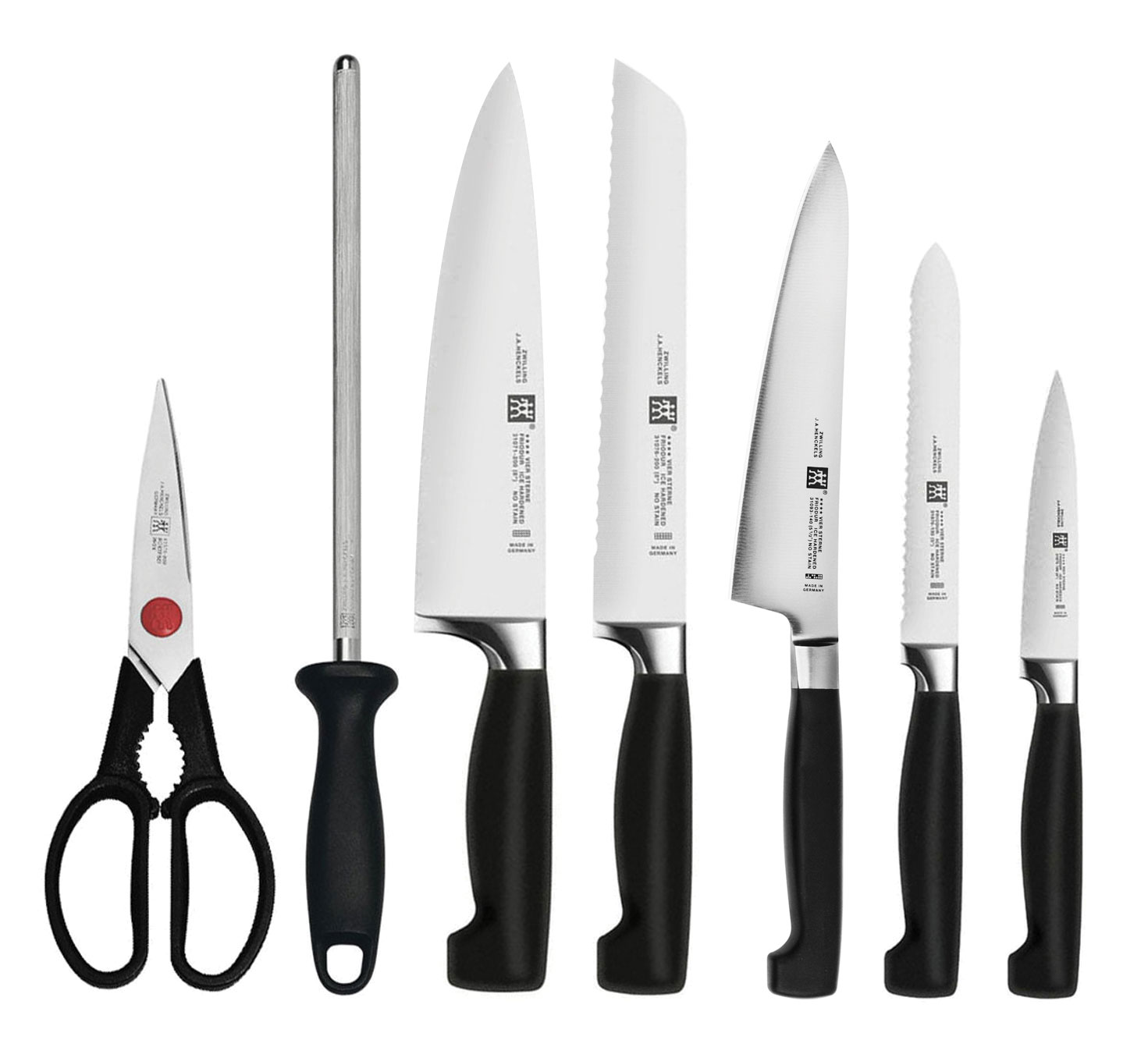 Zwilling Four Star Set 8 Piece With Knife Block By J A Henckels Cutlery And More