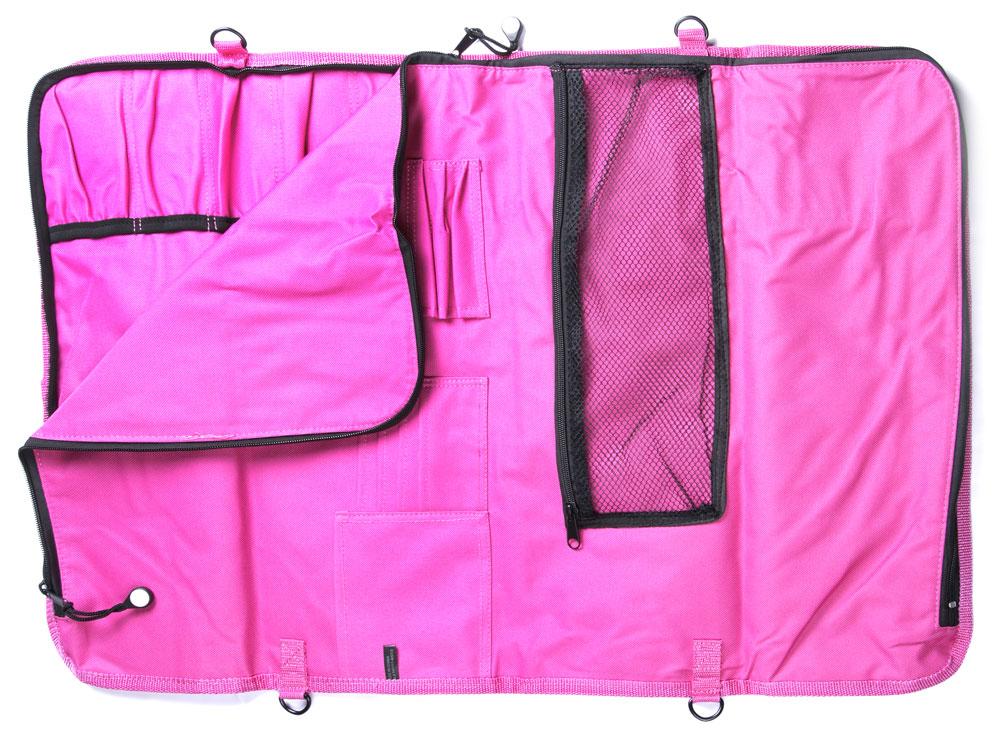 Messermeister Padded Knife Roll 12 Pocket Pink Cutlery