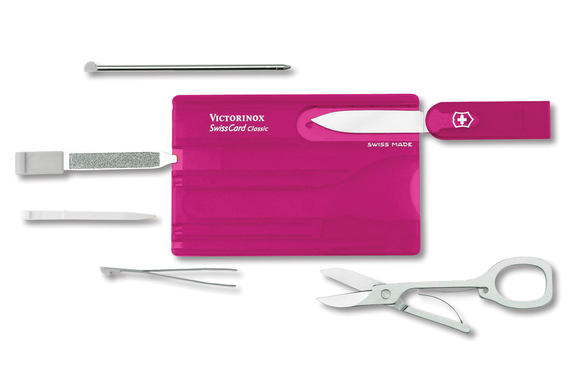 Victorinox Swiss Army Swisscard Pink Cutlery And More