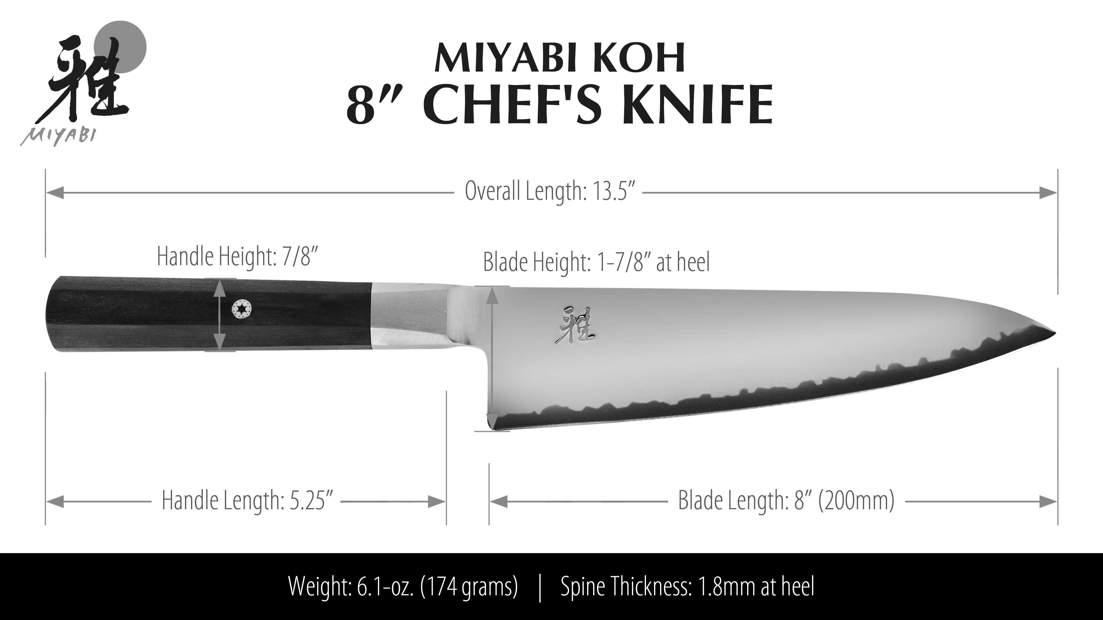 Miyabi Koh Chef S Knife 8 Quot Cutlery And More