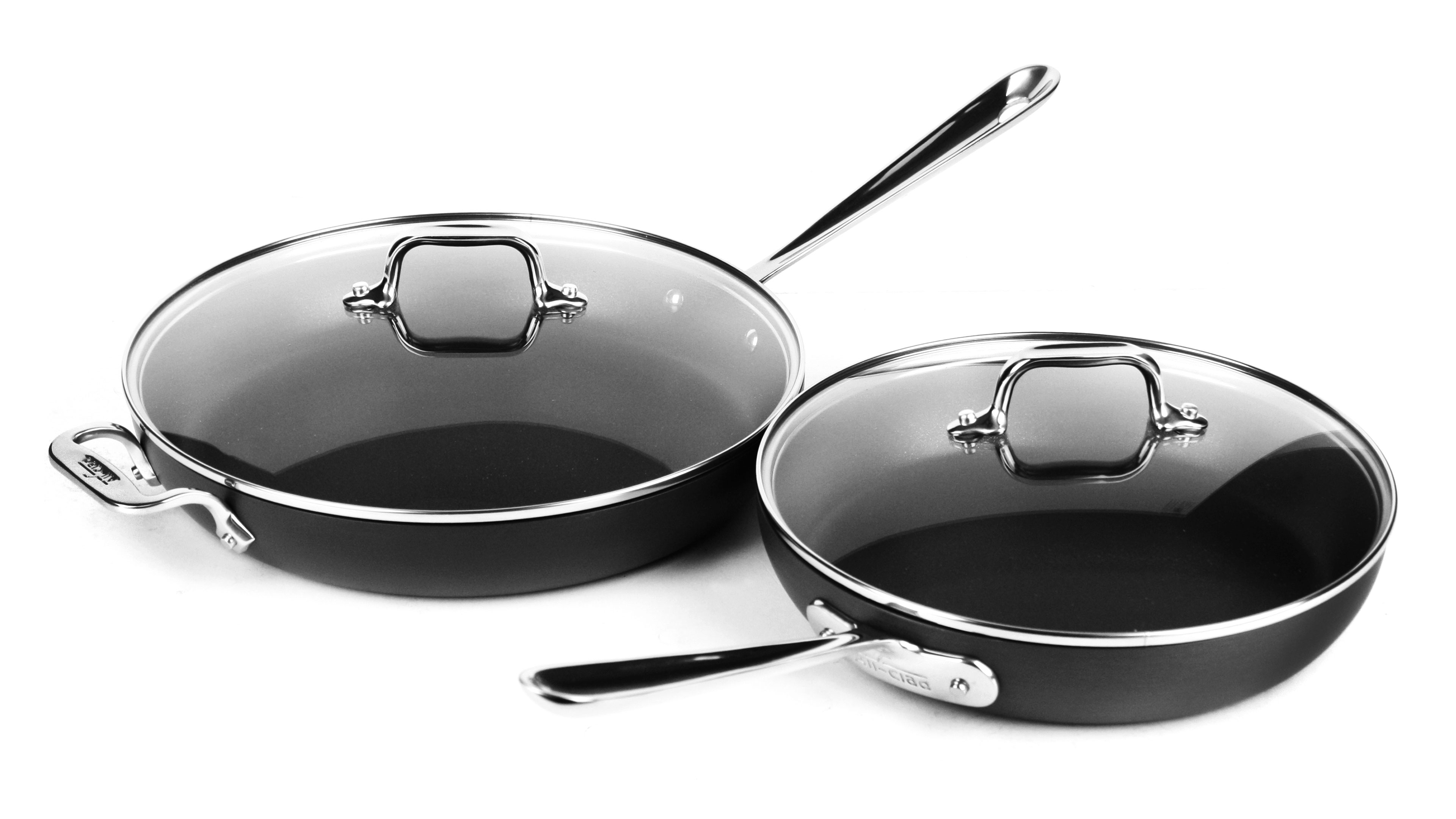 All Clad Ha1 Nonstick 10 Amp 12 Quot Glass Lid Set Cutlery And