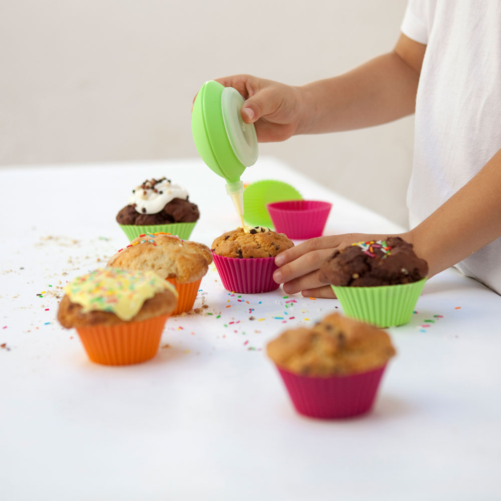 Lekue Silicone Muffin Cups 12 Pack Cutlery And More