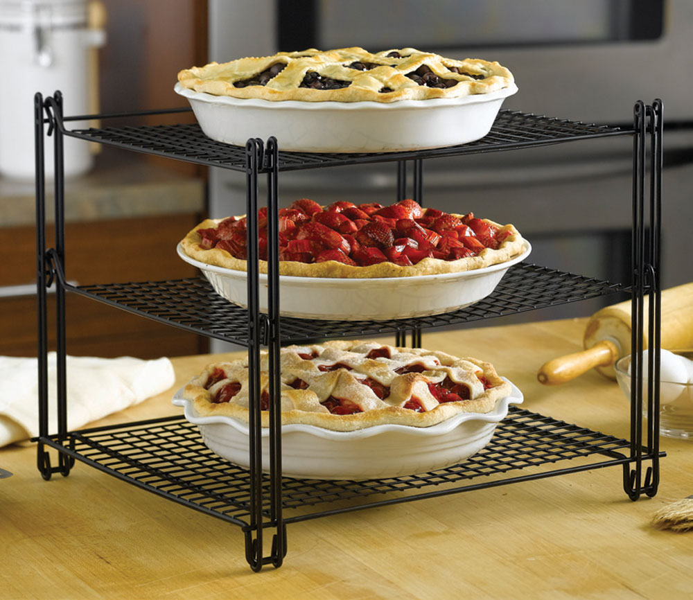 Nifty 3 Tier Collapsible Nonstick Cooling Rack Cutlery