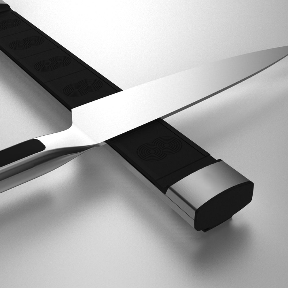 Bisbell Pro Aluminum Amp Soft Touch Magnetic Knife Bar 13 5