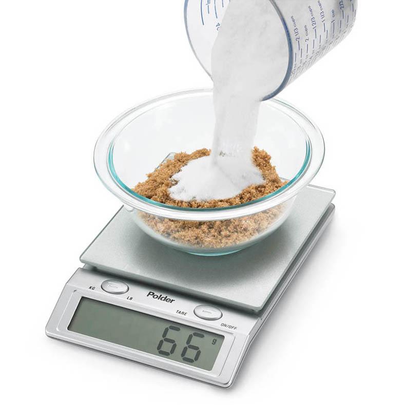 Polder Kitchen Scale: Polder Glass Top Digital Kitchen Scale, 11lb