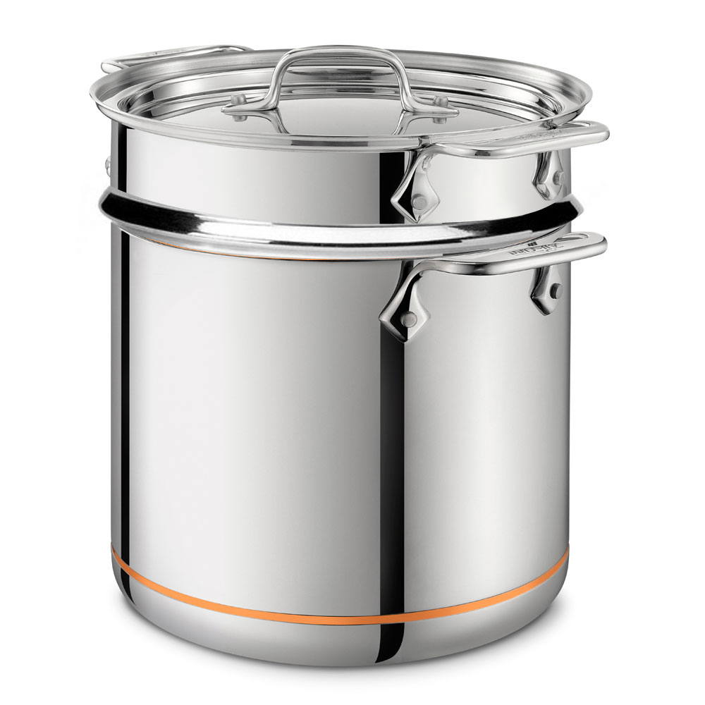 All Clad Copper Core Pasta Pentola Stock Pot With Insert