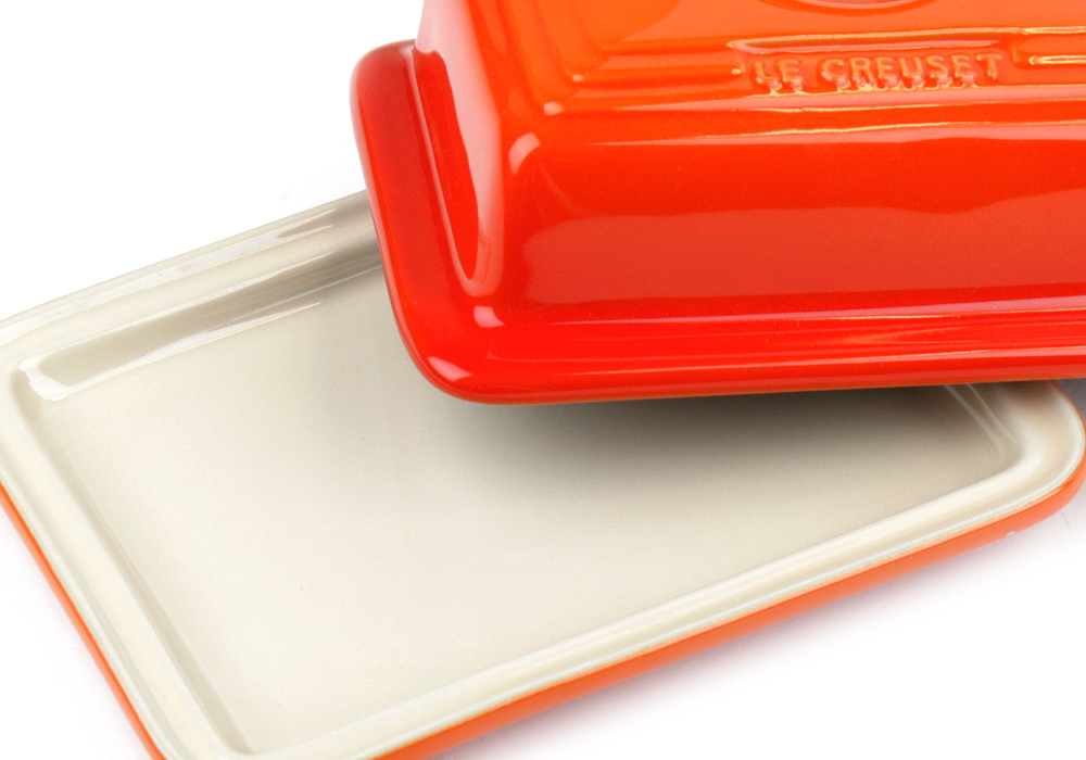 Le Creuset Stoneware Heritage Butter Dish Flame Cutlery