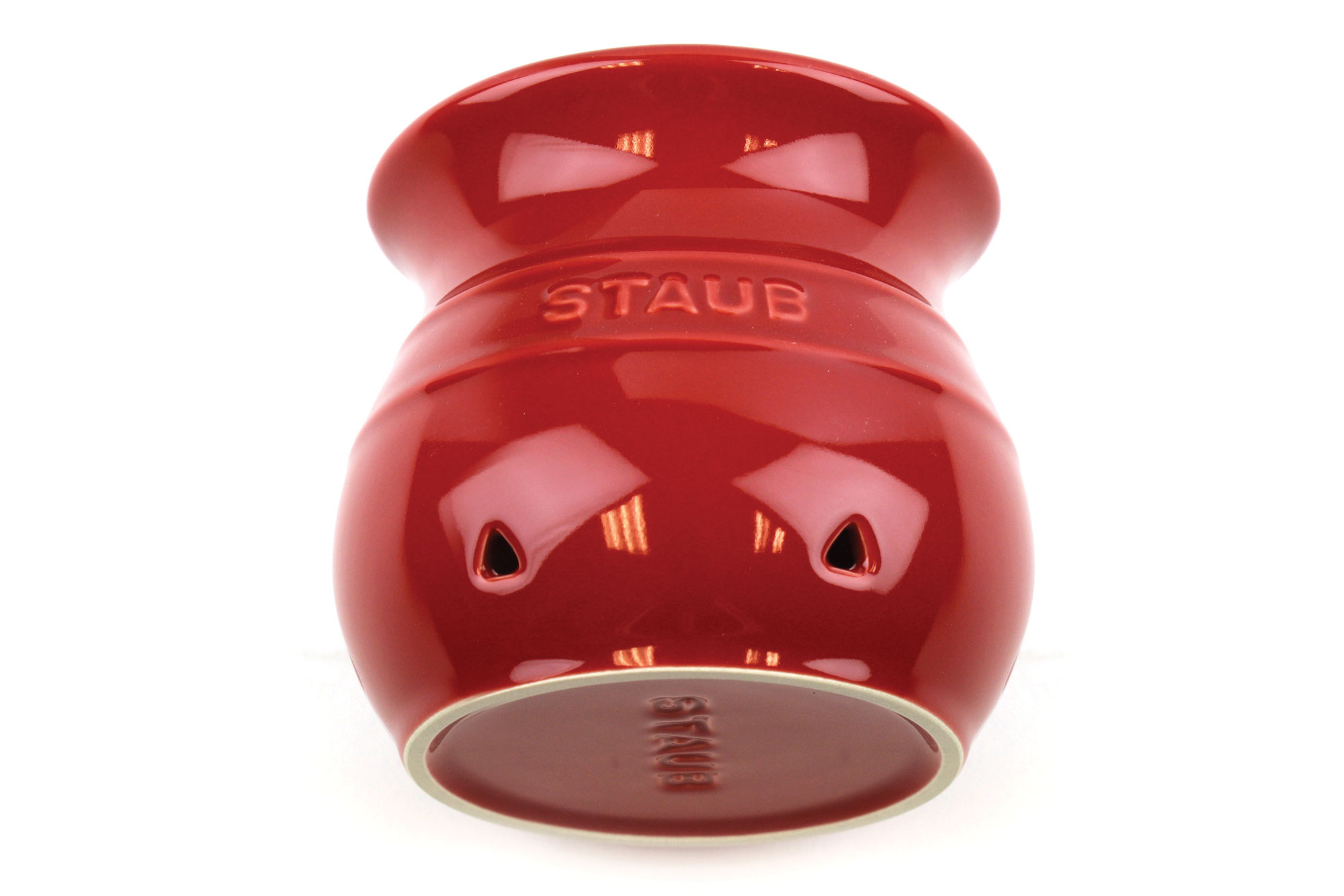 Staub Ceramic Garlic Keeper 4 Quot Cherry Red Cutlery And More