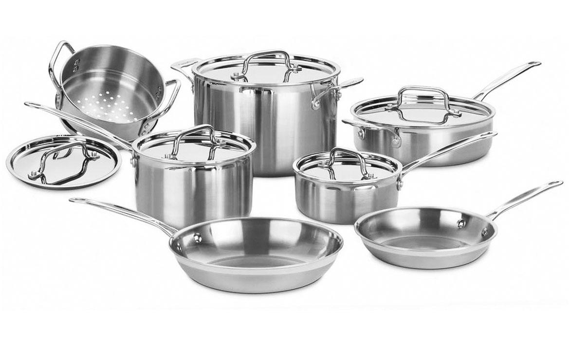 Cuisinart MultiClad Pro 12 Piece Stainless Steel Premier Cookware Set