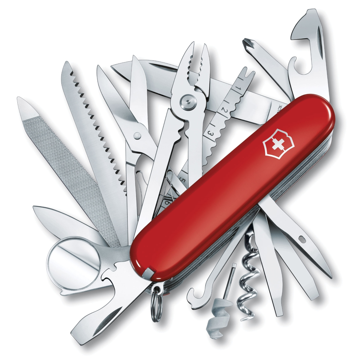 Victorinox Swiss Army Red SwissChamp Pocket Knife