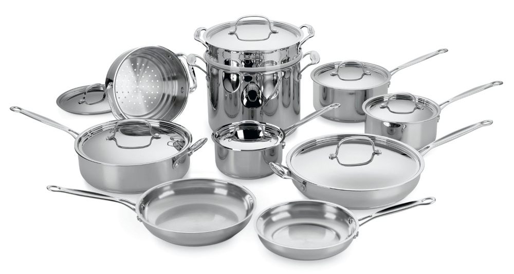 Cuisinart Chef's Classic 17 Piece Stainless Steel Ultimate Cookware Set