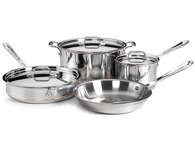 All-Clad Copper Core 7 Piece Signature Cookware Set