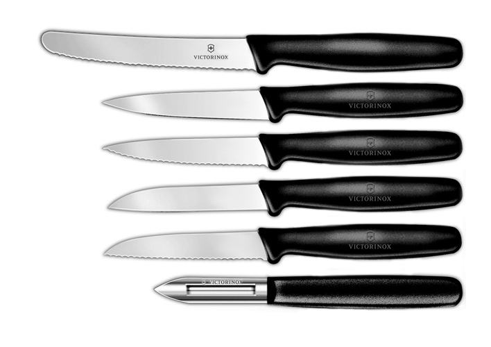 Victorinox Fibrox 6 Piece Paring & Utility Knife Set