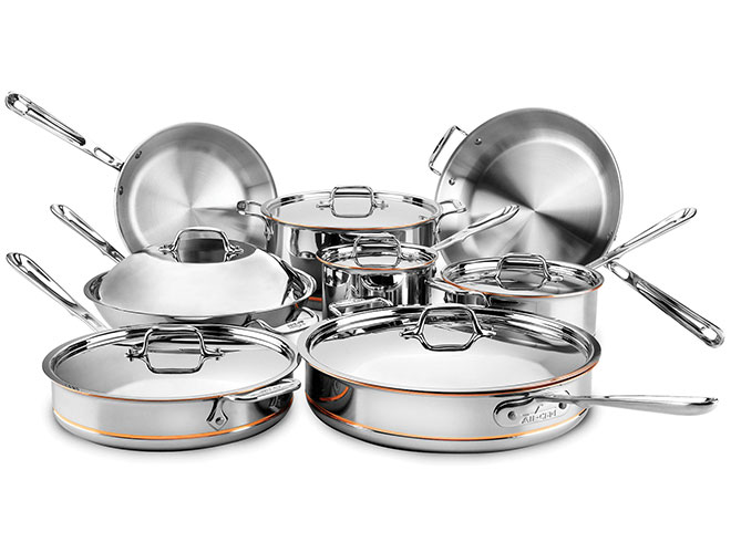 All-Clad Copper Core 14 Piece Ultimate Cookware Set