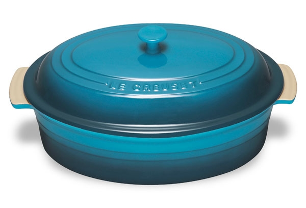 Le Creuset Stoneware 5.75-quart Caribbean Oval Dish with Lid