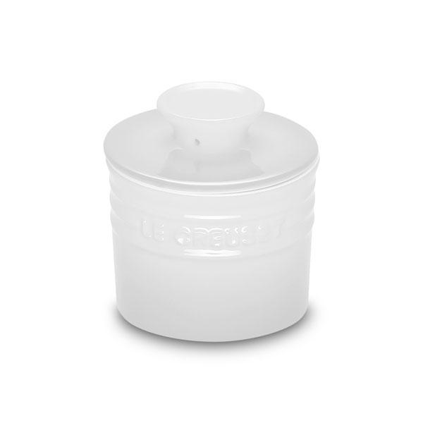 Le Creuset Stoneware Butter Crock 6oz White Cutlery
