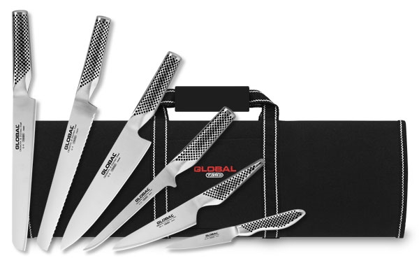 Global Deluxe Knife Roll Set 7 Piece Cutlery And More