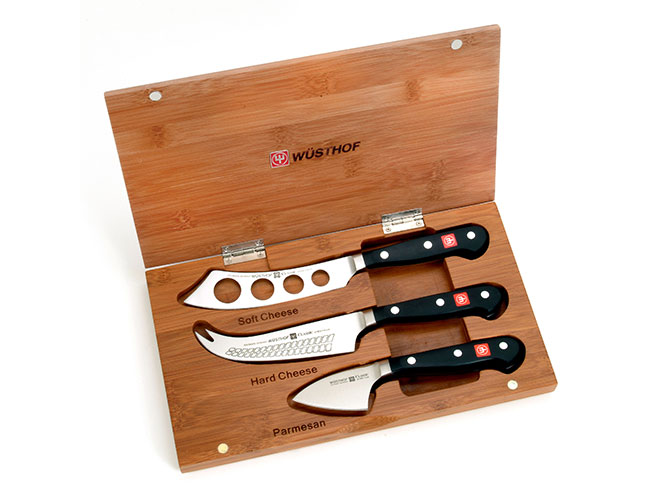 Wusthof Classic 3 Piece Cheese Knife Set with Bamboo Case