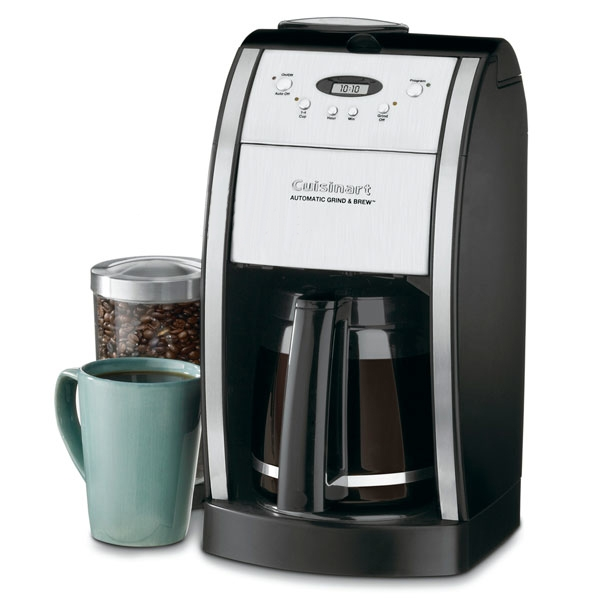 Cuisinart 12 Cup Grind & Brew Automatic Coffee Maker, Black & Brushed Metal