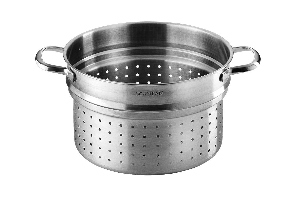 Scanpan Stainless Steel Pasta Insert 6 5 Quart Cutlery