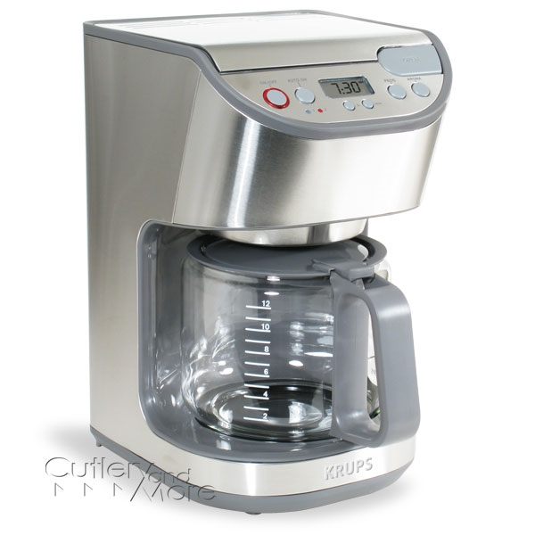 Krups Stainless Steel Precision Glass Carafe Coffee Maker