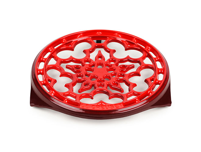 "Le Creuset Cast Iron 9"" Cherry Red Round Trivet"