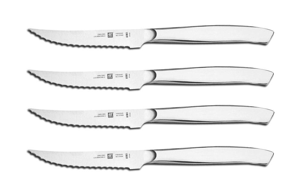 Zwilling J.A. Henckels 4 Piece Stainless Steel Serrated Mignon Steak Knife Set