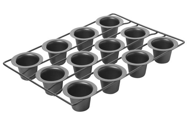 Chicago Metallic 12 Cup Nonstick Mini Popover Pan