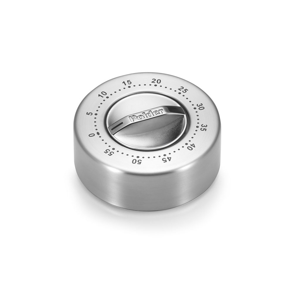 Polder Stainless Steel 60-Minute Mechanical Kitchen Timer