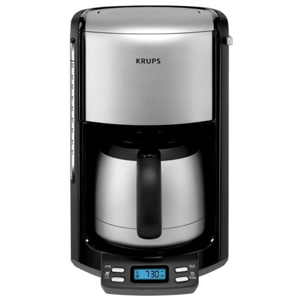 Krups Stainless Steel Thermal Carafe Coffee Maker 10 Cup
