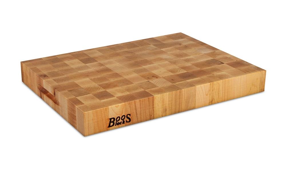 """John Boos Maple 20x15x2.25"""" End Grain Cutting Board"""