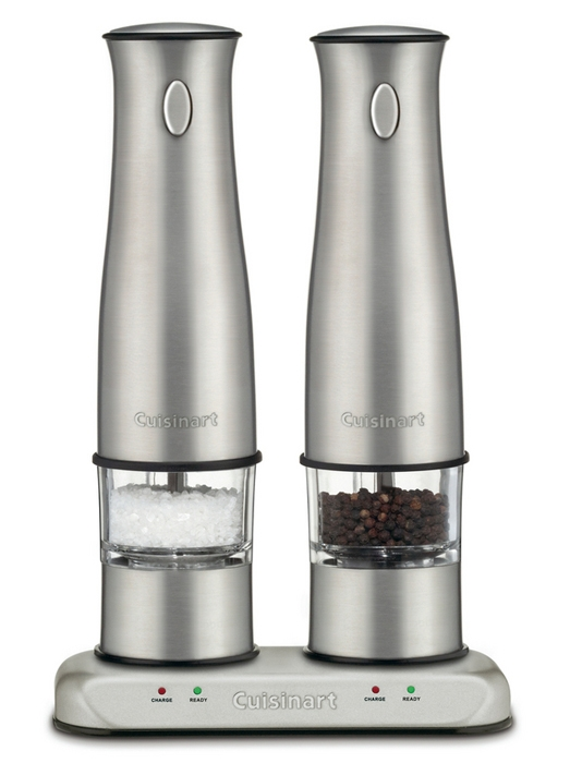 Cuisinart Stainless Steel Rechargeable Electric Salt & Pepper Mill Set
