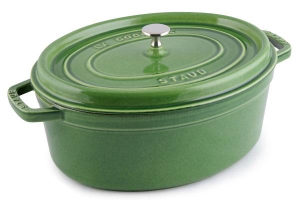 Staub Oval Dutch Oven 7 Quart Pesto Cutlery And More