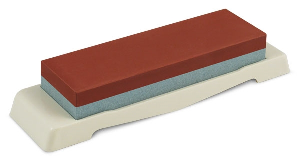 "Tojiro 7x2.25x1"" 220 & 1000 Grit Combination Water Stone with Base"