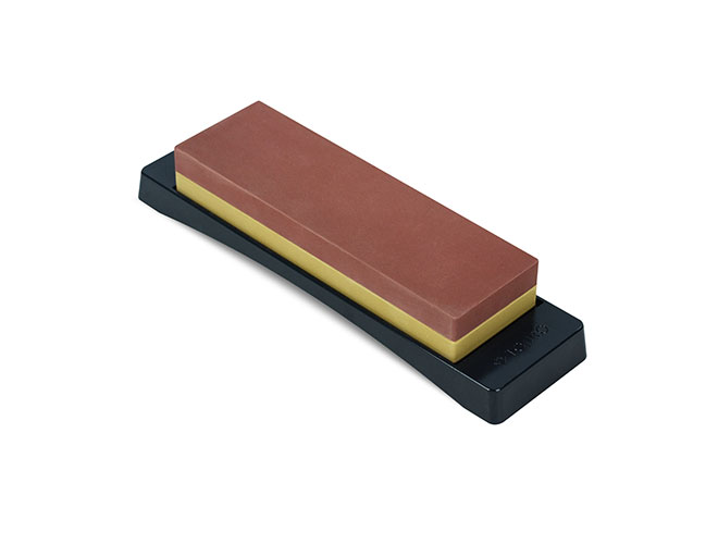 """Tojiro 7x2.25x1"""" 1000 & 3000 Grit Combination Water Stone with Base"""