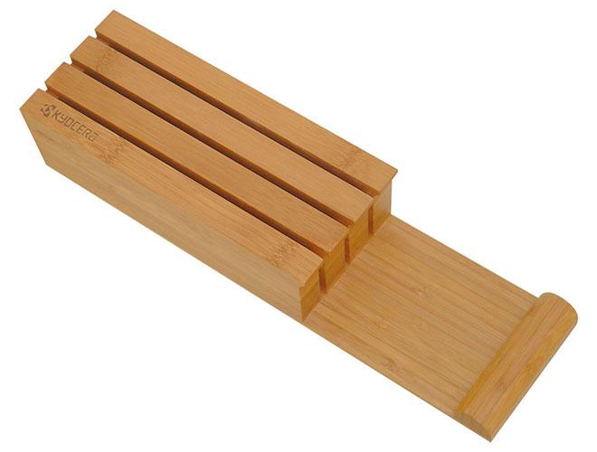 Kyocera 3 Slot Bamboo Knife Holder