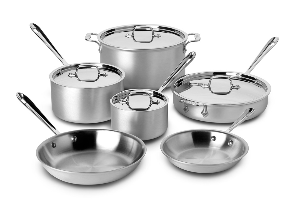 All Clad Master Chef 2 Cookware Set 10 Piece Cutlery