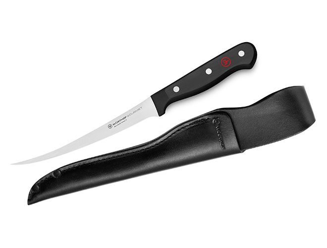 "Wusthof Gourmet 7"" Flexible Fillet Knife with Leather Sheath"