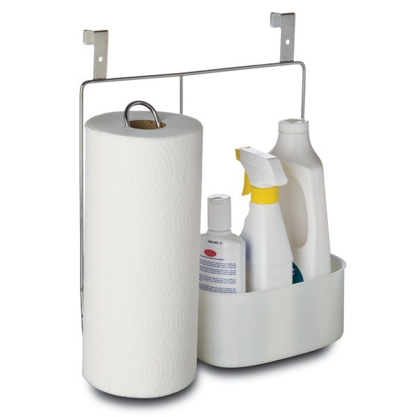 Amco Over Cabinet Paper Towel Holder With Cleaning Caddy