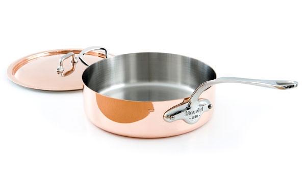 Mauviel M'heritage 150S 5.8-quart Copper Saute Pan