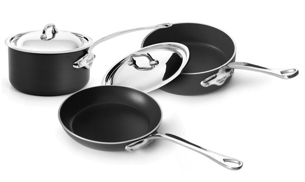 Mauviel M'stone2 5 Piece Stainless Steel Lid Nonstick Cookware Set