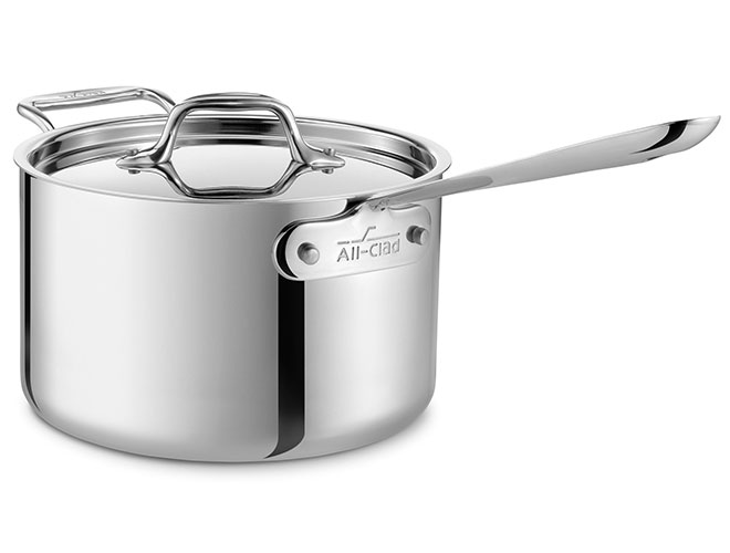 All-Clad d3 Stainless Steel Saucepans
