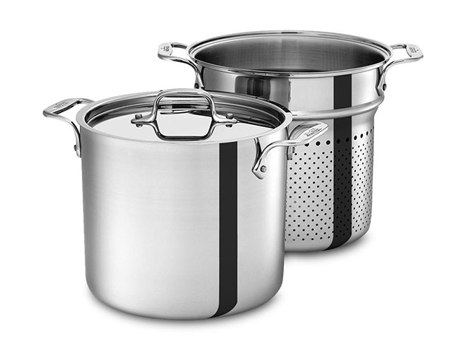 All-Clad d3 Stainless 7-quart Pasta Pentola Stock Pot with Insert