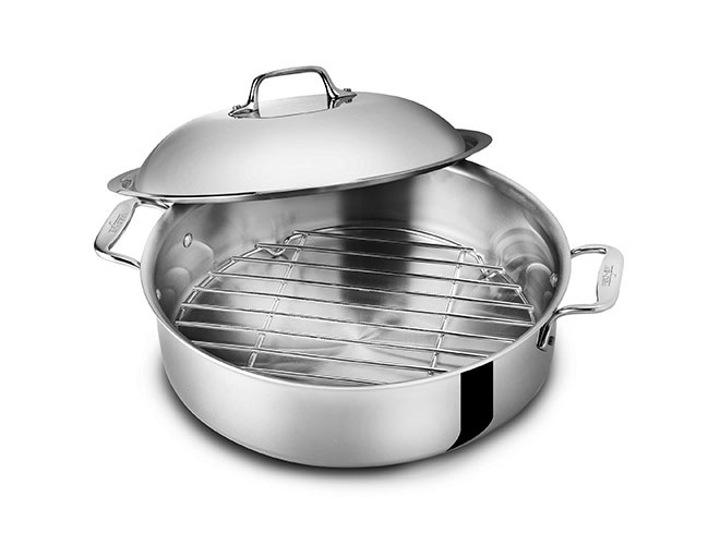 All-Clad d3 Stainless 6-quart French Braiser with Rack