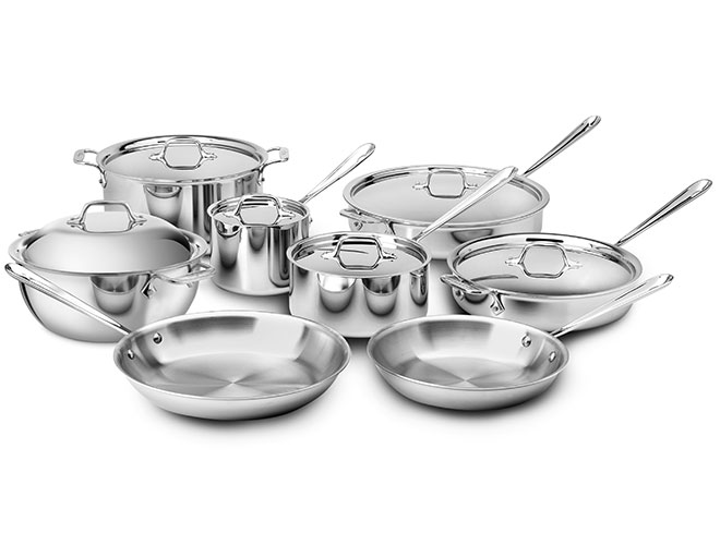 All-Clad d3 Stainless 14 Piece Cookware Set